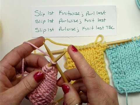 Slip Stitch Edges - Knitting