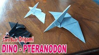 CARA MEMBUAT ORIGAMI HEWAN | Origami velociraptor, Origami easy ... | 180x320