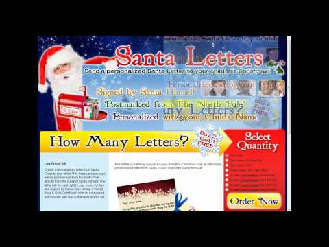Kids Christmas Ideas  Get a Real Letter from Santa