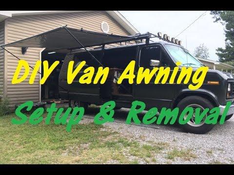 DIY Camper Van Awning Setup & Removal Step by Step.