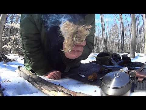 2 minutes 15 seconds chaga, chert and neck knife fire.