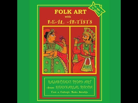 Folk Art Colouring Books - Rajasthani Phad