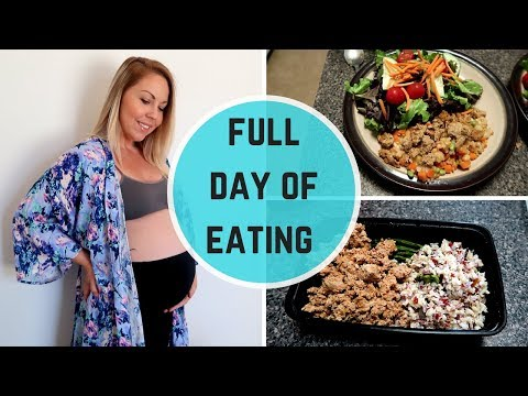 WHAT I EAT IN A DAY | THIRD TRIMESTER