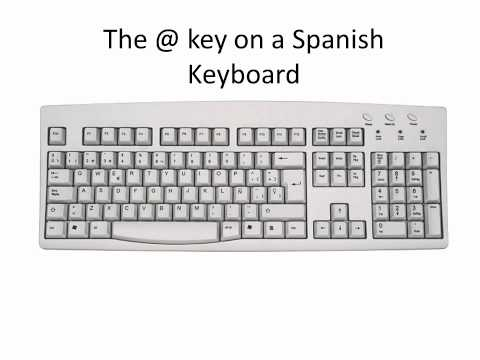 The @ key on a Spanish Keyboard