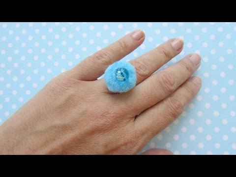 How To Funky Pom Pom Ring!!!! - DIY Style Tutorial - Guidecentral