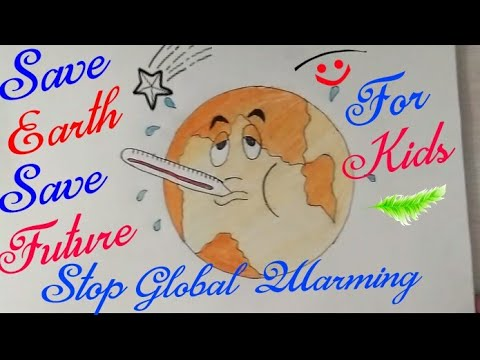 How to draw Save Earth drawing step by step || Save Nature Save Earth ||