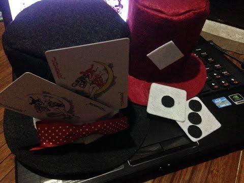 DIY Felt Top Hats and Brooch