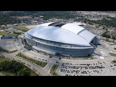Opening Of The Roof, New Dallas Cowboys Stadium (First Ever Game)