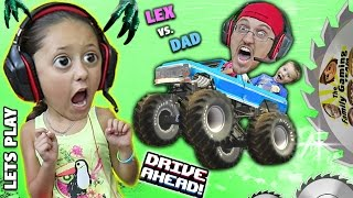 MONSTER TRUCKS ON MY HEAD!  Duddy vs. Lex!  Lets Play DRIVE AHEAD! (FGTEEV Crashing Stunt Vehicles)
