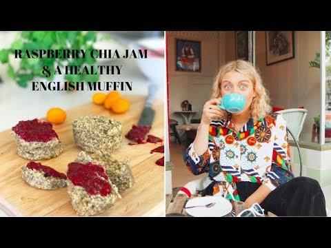 RASPBERRY CHIA JAM & HEALTHY ENGLISH MUFFIN // F o o d i e Friday's
