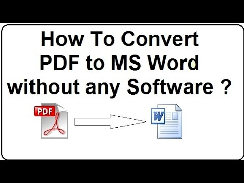How To Convert PDF to Word without any Software ? [One Tip]