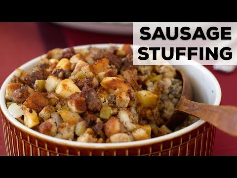 Sausage, Apple and Sage Stuffing   Food Network