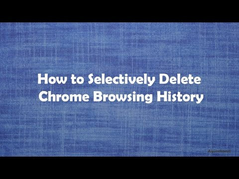 Filter and delete selected history on Chrome browser