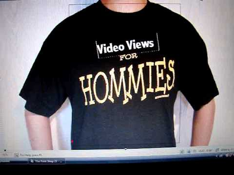 Video Views for Hommies T-Shirts 14.99 by Sue's Crew Printing Chicago's Silk screen Queen