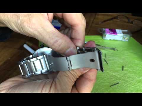 Nixon watch, how to resize, remove wristband links, adjust the wristband