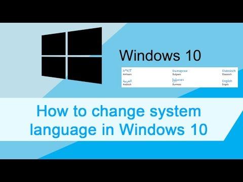 Windows 10 change system language