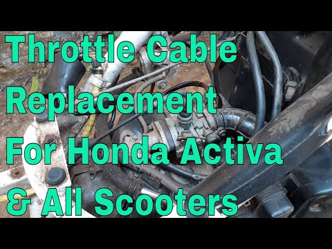 Honda Activa Throttle Cable Replacement.