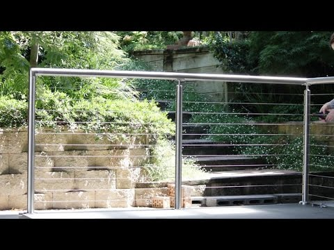 How to install a DIY stainless steel handrail with raised saddles