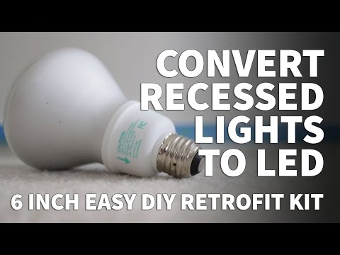 How to Install Retrofit LED Lights 6 Inch Kit – Dimmable LED Recessed Lighting FEIT 2700K 3000K