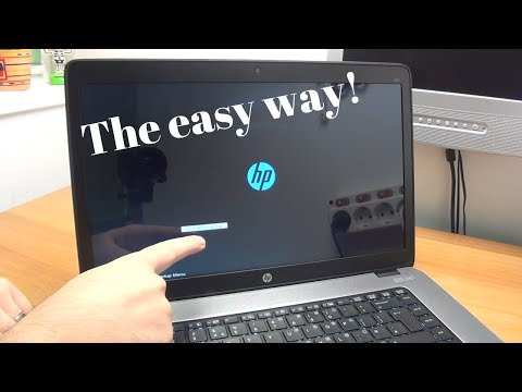 How to enter the BIOS on most HP EliteBook laptops - The easy way!