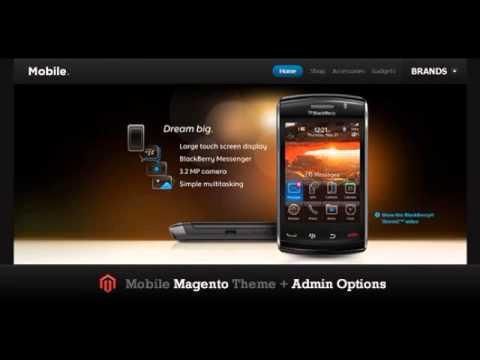 Preview Mobile Magento Theme Magento