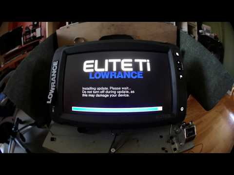 How to update (Software Upgrade)  your Lowrance Elite TI  fishfinder/chartplotter  4K