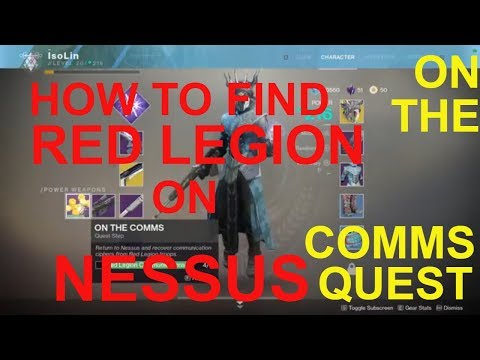 Destiny 2 how to get Red Legion Communications. On the Comms quest. How to create heroic event