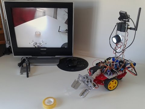 Arduino BT RC Car+Android App+Clamp+Wireless Camera (Mars Exploration Vehicle & Sample Collector)