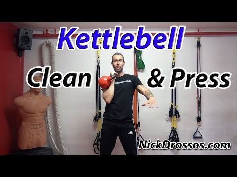 Kettlebell - Clean and Press Exercise