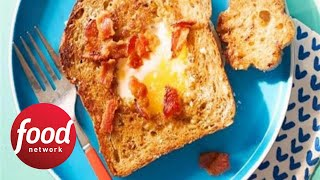 Kids Can Make: Cheesy Eggs-in-the-Hole with Bacon