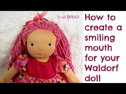 DIY | How to create a smiling mouth for your Waldorf Doll Cloth Doll