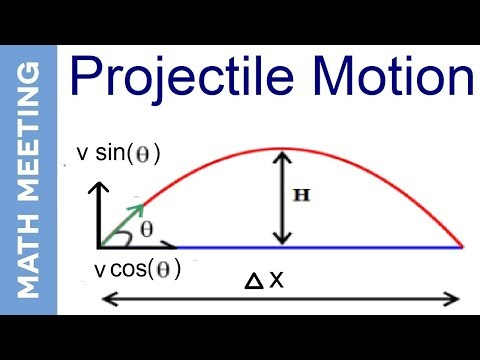 Projectile Motion  - 2 dimensional kinematics (introduction)