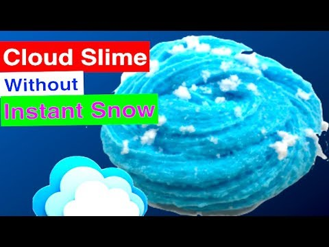 How To Make Cloud slime Without Fake Instant Snow!! Instagram Ice Slime Tutorial