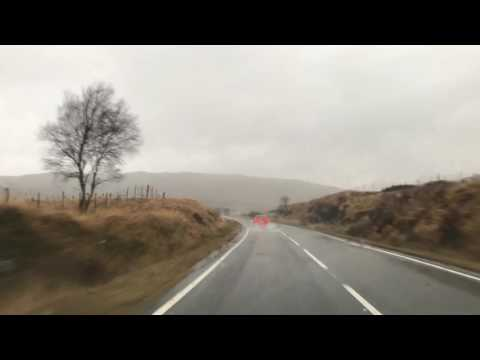 A82 Glasgow to Inverness via Fort William entire length time lapse