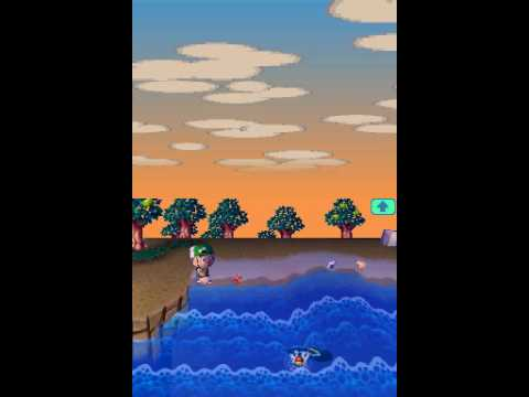 Catching a Shark on Animal Crossing Wild World
