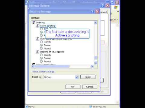 Howto: Enable Javascript and Cookies in IE