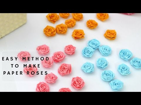 How to make paper Roses | Paper Quilling tutorial in Tamil | Crafts by anu