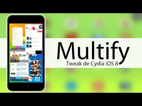 Multify    iOS 8.4    Utiliza varias Aplicaciones a la vez en tu iDevice    Tweak de Cydia    2015