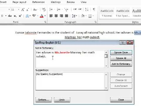 HOW TO CHECK THE WRONG SPELLING AND GRAMMAR IN MS WORD 2010