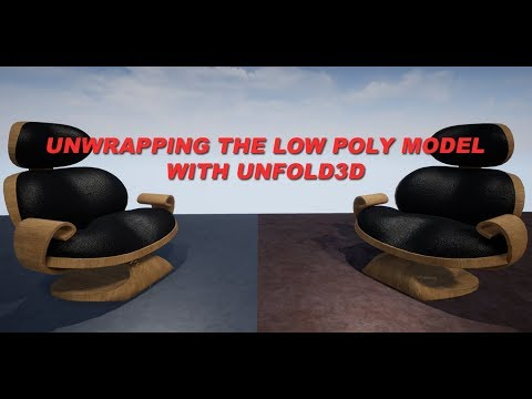 UVW Unwrapping of the Custom Chair with Unfold3D