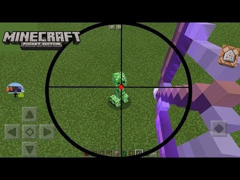 [MCPE] How to make a Sniper Bow with COMMAND BLOCKS !
