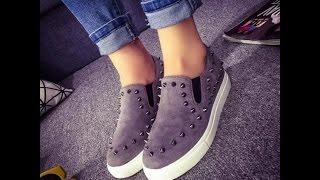 #x202b;أحدث أحذية بناتية روعة - احذية بنات جديدة 2017  Ladies Flats#x202c;lrm;