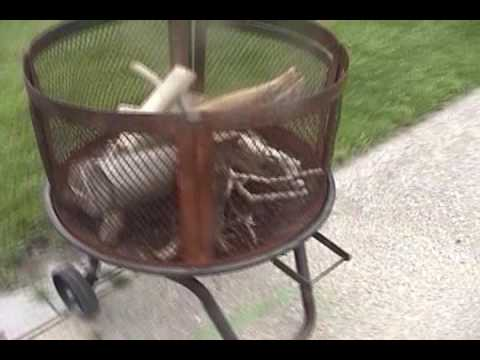 Delmoko shows how to start a fire in his new fire pit