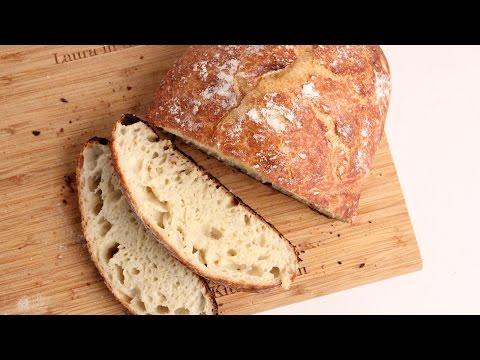 No-Knead Rustic Bread Recipe - Laura Vitale - Laura in the Kitchen Episode 1025