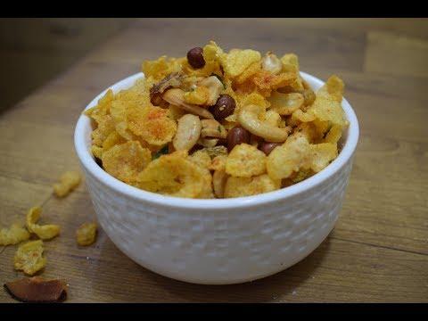 Diwali Special कॉर्नफ्लेक्स चिवडा Cornflakes Chivda Makai namkeen Makyacha Chivda Cornflakes Namkeen