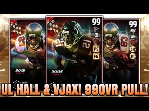 OMG 99 OVERALL PULL! ULTIMATE LEGENDS DEANGALO HALL AND VINCENT JACKSON! | MADDEN 17 ULTIMATE TEAM