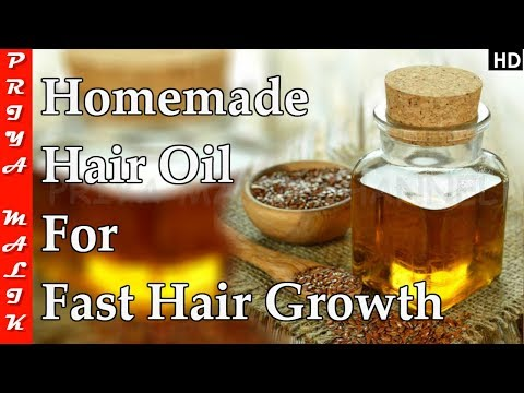 Apply this Oil Every Night & Your Hair will Never Stop Growing - Homemade Hair Oil For Hair Growth