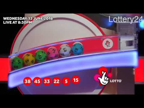 2018 06 13 UK lotto Numbers and draw results