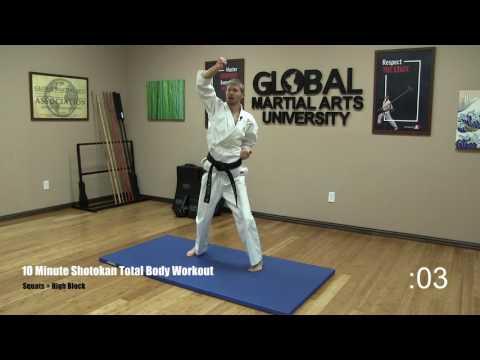 10 Minute Total Body Shotokan Workout
