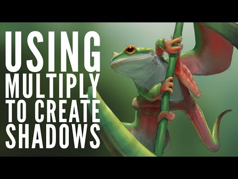 How to Use Mutliply Layers to Paint Shadows